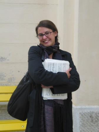 Chorleiterin Hanna Natmessnig